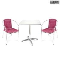 Комплект мебели  LFT-3099F/T3125-60x60 Bordo (2+1)
