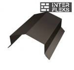 Парапетная крышка угольная 250мм 0,5 Velur20 с пленкой RR 32 темно-коричневый