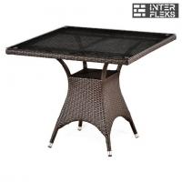 Стол из иск. ротанга T220BT-W51-90x90 Brown