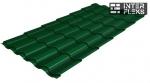 Металлочерепица Grand Line Kredo RAL 6005 зеленый мох