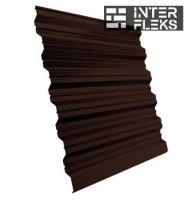 Кровельный профнастил GL-35R RR 887 шоколадно-коричневый (RAL 8017 шоколад)