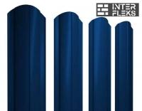 Металлический штакетник GL круглый фигурный RAL 5005 сигнальный синий