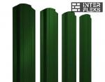 Металлический штакетник GL прямоугольный фигурный RAL 6005 зеленый мох