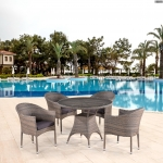 Комплект мебели из иск. ротанга T220CG/Y350BG-W1289 Pale (4+1)