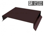 Парапетная крышка прямая 200мм 0,5 Quarzit lite с пленкой RAL 8017 шоколад