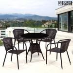 Комплект мебели из иск. ротанга T197ANS/Y137B-W51 Brown (4+1)
