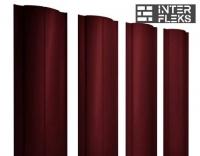 Металлический штакетник GL круглый RAL 3005 красное вино
