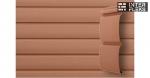 Виниловый сайдинг GL Блок-хаус 3,0 D4,8 темно-бежевый