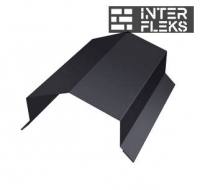 Парапетная крышка угольная 150мм 0,5 Quarzit lite с пленкой RR 32 темно-коричневый