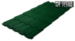 Металлочерепица Grand Line Kvinta Plus RAL 6005 зеленый мох