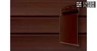 Виниловый сайдинг GL Natural-Брус 3,0 S7 акриловый темный дуб (АСА)
