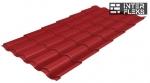 Металлочерепица Grand Line Kredo RAL 3011 коричнево-красный