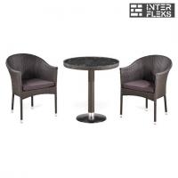 Комплект мебели из иск. ротанга T504/Y350W-W2390 Brown (2+1)
