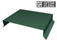 Парапетная крышка прямая 250мм 0,5 Quarzit lite с пленкой RAL 6005 зеленый мох