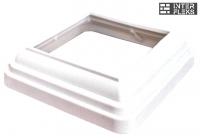 Крышка нижняя Woodvex White co-extrusion (белая) 140х140
