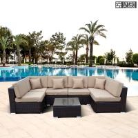 Комплект мебели из иск. ротанга YR822 Brown