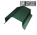 Парапетная крышка угольная 250мм 0,45 PE с пленкой RAL 6005 зеленый мох