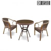 Комплект мебели A1007/A2010B-AD63 Coffe (2+1)