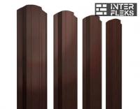 Металлический штакетник GL прямоугольный фигурный RAL 8017 шоколад