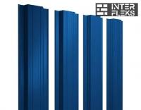Металлический штакетник GL прямоугольный RAL 5005 сигнальный синий