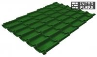 Металлочерепица Grand Line Modern RAL 6002 лиственно-зеленый