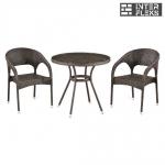 Комплект мебели из иск. ротанга T283ANT-W51/Y90C-W51 Brown (2+1)