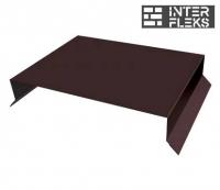 Парапетная крышка прямая 200мм 0,5 Satin с пленкой RAL 8017 шоколад