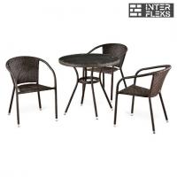 Комплект мебели из иск. ротанга T283ANT/Y137C-W51 Brown (3+1)