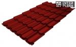 Металлочерепица Grand Line Kvinta Plus RAL 3011 коричнево-красный