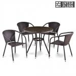 Комплект мебели из иск. ротанга T283ANT/Y137C-W51 Brown (4+1)