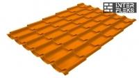 Металлочерепица Grand Line Classic RAL 2004 оранжевый