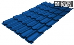 Металлочерепица Grand Line Kvinta Plus RAL 5005 сигнальный синий