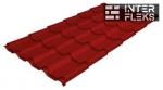 Металлочерепица Grand Line Kamea RAL 3011 коричнево-красный