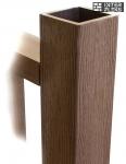 Столб Woodvex темно-коричневый 100х100