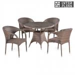 Комплект мебели из иск. ротанга T220CG/Y290BG-W1289 Pale (4+1)