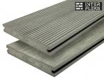 Террасная доска MULTICOLOR серый полнотелая 18х130