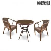 Комплект мебели A1007/A2010A-AD63 Cappuccino (2+1)