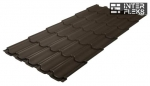 Металлочерепица Grand Line Kvinta Plus RR 32 темно-коричневый