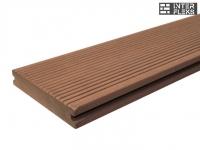Террасная доска Ай-Техпласт какао полнотелая 22х140