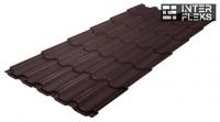 Металлочерепица Grand Line Kvinta Plus RAL 8017 шоколад