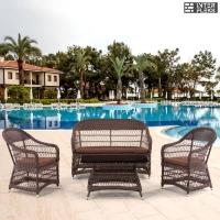 Комплект мебели из иск.ротанга Y306-2/Y306/ST306 Light brown