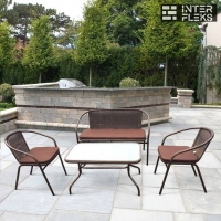 Комплект мебели из иск. ротанга TLH-037/037D/40S Brown