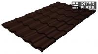 Металлочерепица Grand Line Kredo RR 887 шоколадно-коричневый
