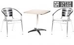 Комплект мебели LFT-3059/T3125-60x60 Silver (2+1)