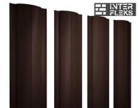 Металлический штакетник GL круглый RAL 8017 шоколад