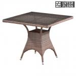 Стол из иск. ротанга T220BG-W1289-90x90 Pale