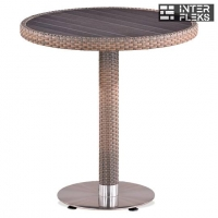 Стол из иск. ротанга T501DG-W1289-D70 Pale (декинг)