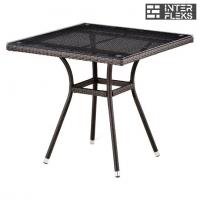 Стол из иск. ротанга T283BNT-W2390-80х80 Brown