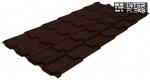 Металлочерепица Grand Line Kamea RR 887 шоколадно-коричневый (RAL 8017 шоколад)