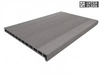 Ступень ДПК Drevplast серый пустотелая 348х22